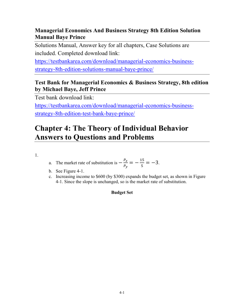 Managerial Economics 7th Edition Solution Manual Pdf Free