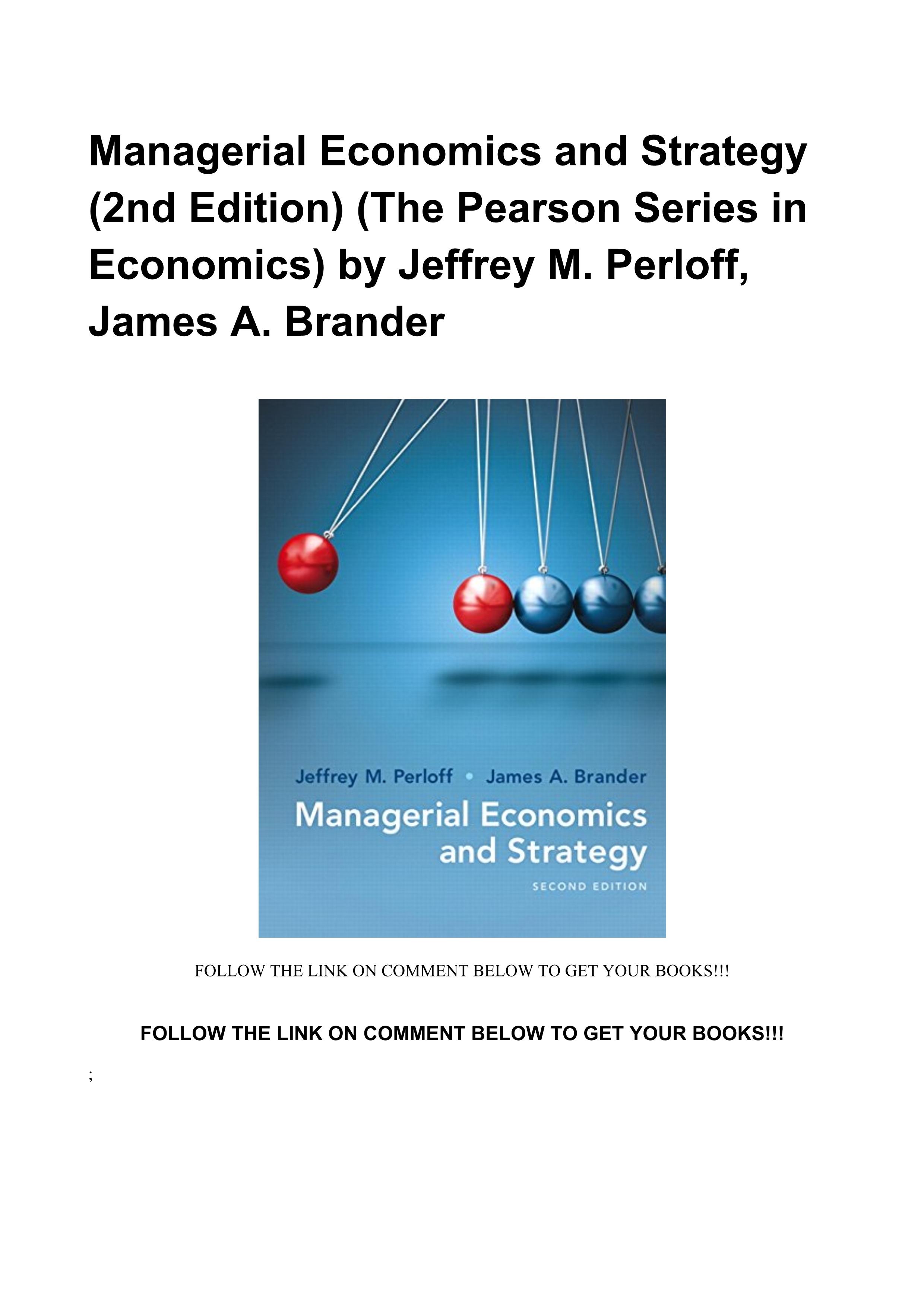 Managerial Economics Pearson Pdf