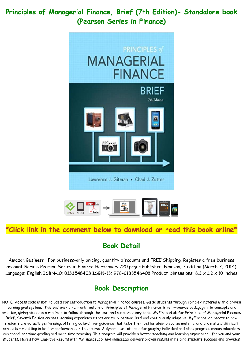 Managerial Finance Book Pdf