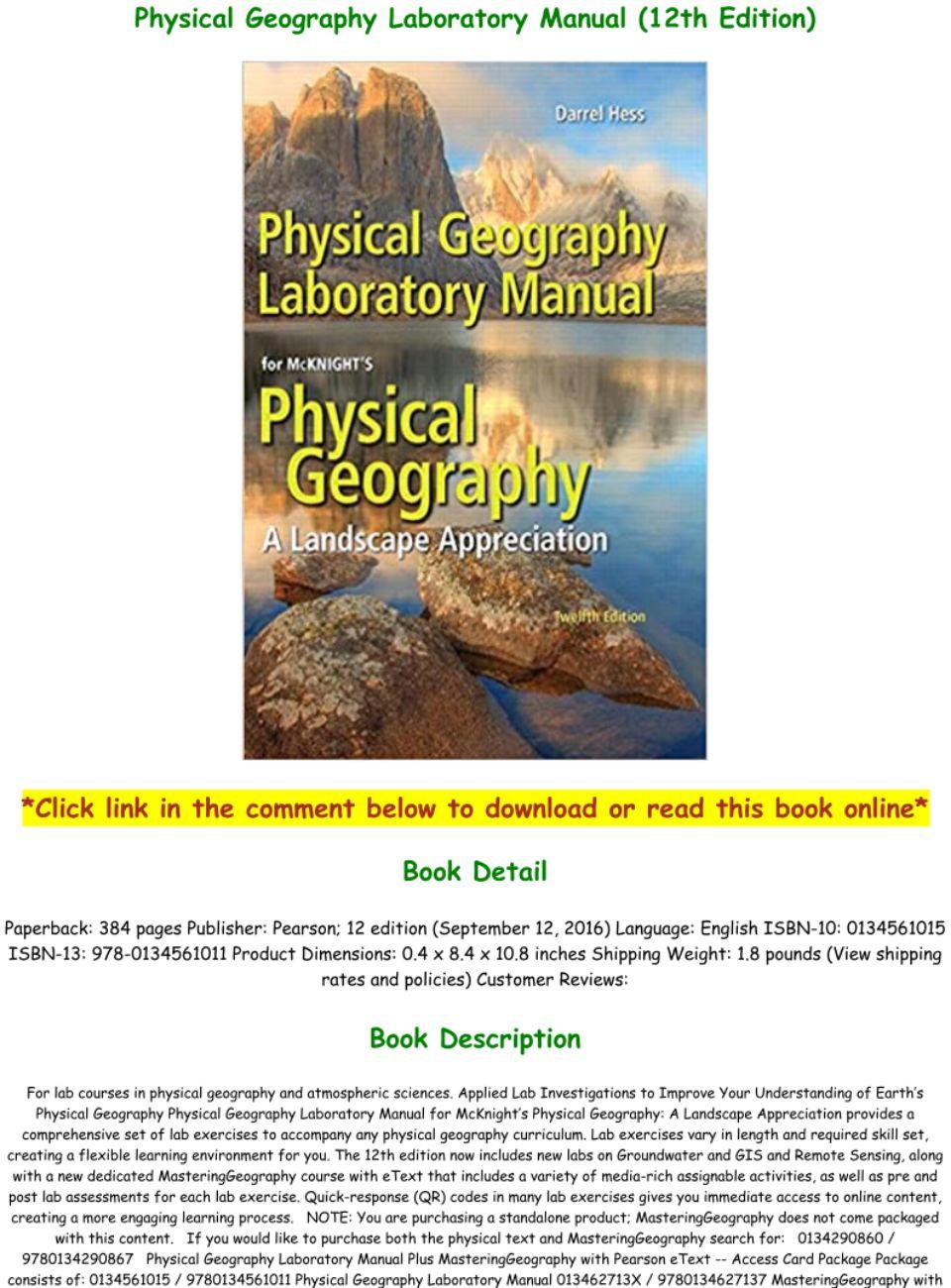 Mcknights Physical Geography 12th Edition Pdf