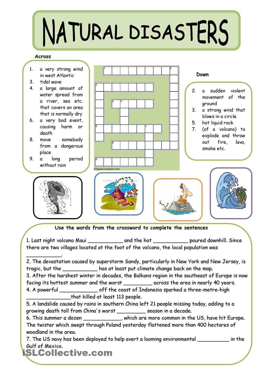 Natural Disasters Reading Comprehension Worksheets Pdf