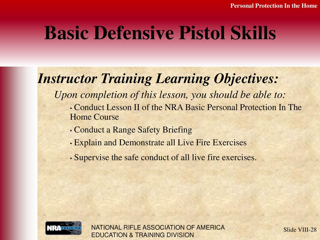 Nra Trainers Guide Pdf