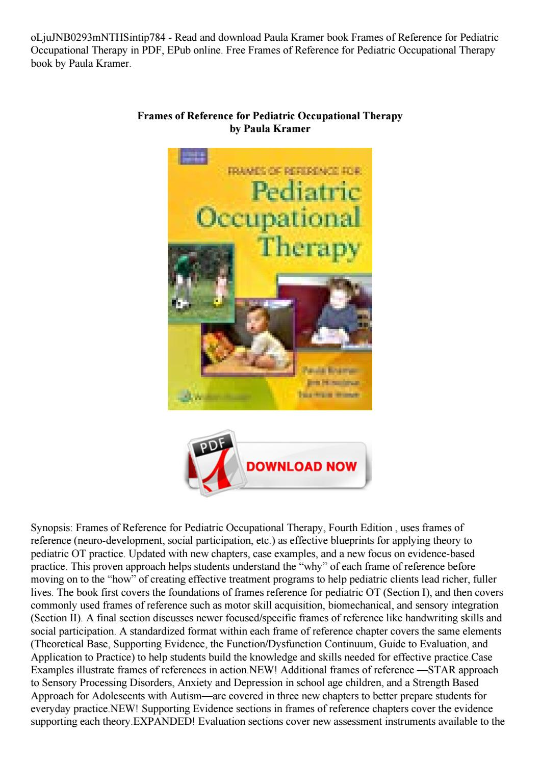 Occupational Therapy Books Free Download Pdf