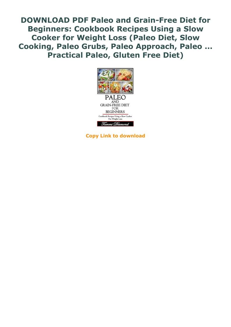 Paleo Diet Cookbook Pdf Free