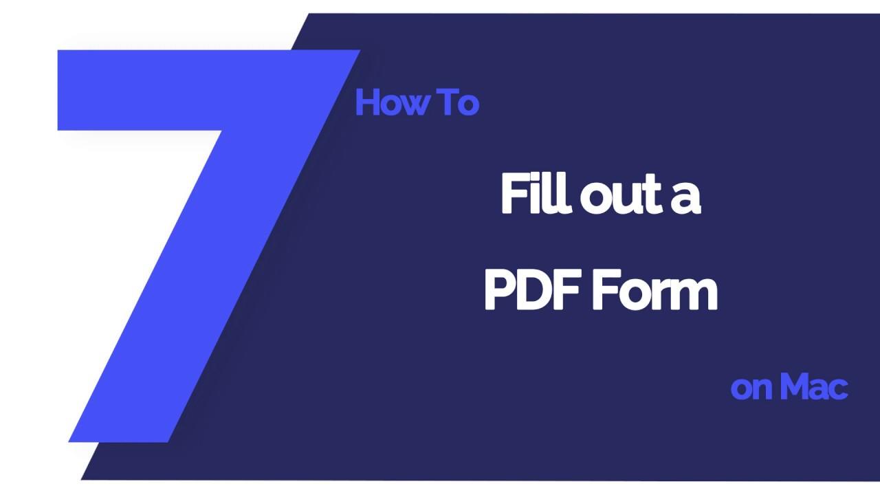 Pdf Filler Mac Free